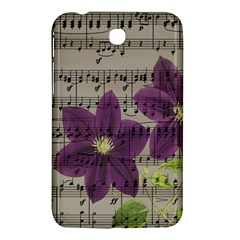 Vintage Purple Flowers Samsung Galaxy Tab 3 (7 ) P3200 Hardshell Case  by Valentinaart