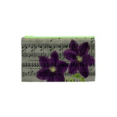 Vintage Purple Flowers Cosmetic Bag (xs) by Valentinaart