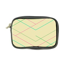 Abstract Yellow Geometric Line Pattern Coin Purse by Simbadda