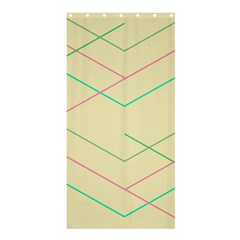 Abstract Yellow Geometric Line Pattern Shower Curtain 36  X 72  (stall)  by Simbadda