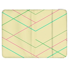 Abstract Yellow Geometric Line Pattern Samsung Galaxy Tab 7  P1000 Flip Case by Simbadda