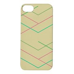 Abstract Yellow Geometric Line Pattern Apple Iphone 5s/ Se Hardshell Case by Simbadda