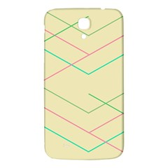 Abstract Yellow Geometric Line Pattern Samsung Galaxy Mega I9200 Hardshell Back Case