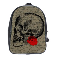 Skull And Rose  School Bags(large)  by Valentinaart