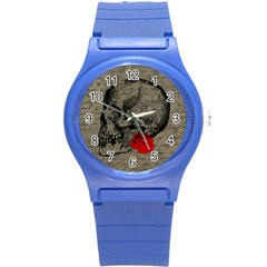 Skull And Rose  Round Plastic Sport Watch (s) by Valentinaart