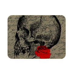 Skull And Rose  Double Sided Flano Blanket (mini)  by Valentinaart