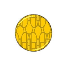 The Michigan Pattern Yellow Hat Clip Ball Marker (4 Pack) by Simbadda