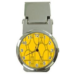 The Michigan Pattern Yellow Money Clip Watches by Simbadda