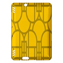 The Michigan Pattern Yellow Kindle Fire Hdx Hardshell Case by Simbadda