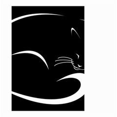 Cat Black Vector Minimalism Small Garden Flag (two Sides) by Simbadda