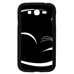 Cat Black Vector Minimalism Samsung Galaxy Grand DUOS I9082 Case (Black)