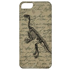 Dinosaur Skeleton Apple Iphone 5 Classic Hardshell Case by Valentinaart