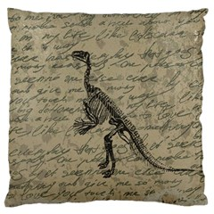 Dinosaur Skeleton Large Flano Cushion Case (two Sides) by Valentinaart