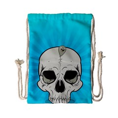 Skull Ball Line Schedule Drawstring Bag (small) by Simbadda