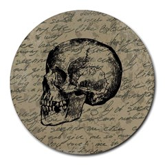 Skull Round Mousepads by Valentinaart