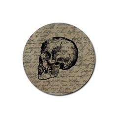 Skull Rubber Coaster (round)  by Valentinaart