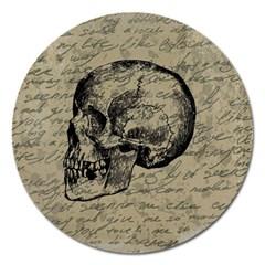 Skull Magnet 5  (round) by Valentinaart