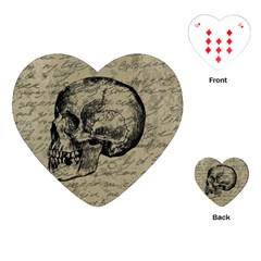 Skull Playing Cards (heart)  by Valentinaart