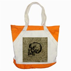 Skull Accent Tote Bag by Valentinaart