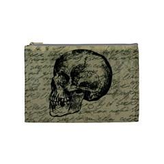 Skull Cosmetic Bag (medium)  by Valentinaart