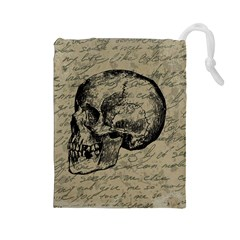 Skull Drawstring Pouches (large)  by Valentinaart