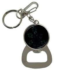 Fractal Pattern Black Background Button Necklaces by Simbadda