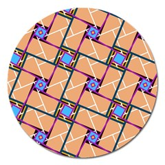 Overlaid Patterns Magnet 5  (round) by Simbadda