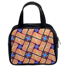 Overlaid Patterns Classic Handbags (2 Sides)