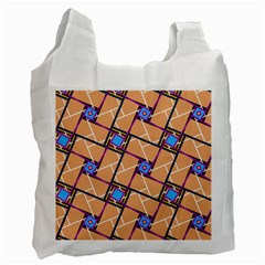 Overlaid Patterns Recycle Bag (two Side)  by Simbadda