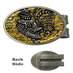 Vintage Rooster  Money Clips (oval)  by Valentinaart