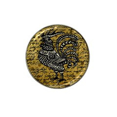 Vintage Rooster  Hat Clip Ball Marker by Valentinaart