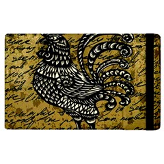 Vintage Rooster  Apple Ipad 2 Flip Case by Valentinaart