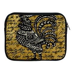 Vintage Rooster  Apple Ipad 2/3/4 Zipper Cases by Valentinaart