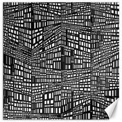Recursive Subdivision Between 5 Source Lines Screen Black Canvas 16  X 16   by Simbadda