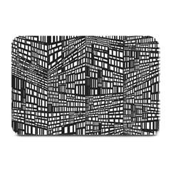 Recursive Subdivision Between 5 Source Lines Screen Black Plate Mats by Simbadda