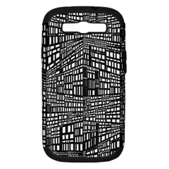 Recursive Subdivision Between 5 Source Lines Screen Black Samsung Galaxy S Iii Hardshell Case (pc+silicone) by Simbadda