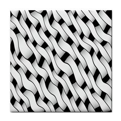 Black And White Pattern Tile Coasters by Simbadda