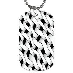 Black And White Pattern Dog Tag (two Sides) by Simbadda