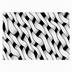Black And White Pattern Large Glasses Cloth (2 Side) by Simbadda