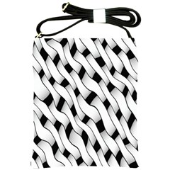 Black And White Pattern Shoulder Sling Bags by Simbadda