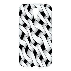 Black And White Pattern Samsung Galaxy S4 I9500/i9505 Hardshell Case by Simbadda