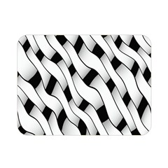 Black And White Pattern Double Sided Flano Blanket (mini)  by Simbadda