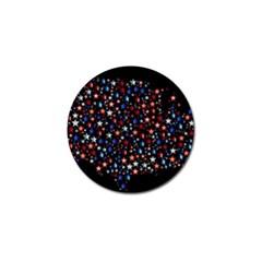 America Usa Map Stars Vector  Golf Ball Marker (4 Pack) by Simbadda