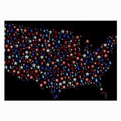 America Usa Map Stars Vector  Large Glasses Cloth (2 Side) by Simbadda