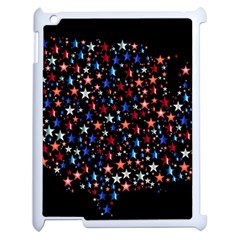 America Usa Map Stars Vector  Apple Ipad 2 Case (white) by Simbadda