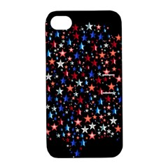 America Usa Map Stars Vector  Apple Iphone 4/4s Hardshell Case With Stand by Simbadda