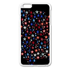 America Usa Map Stars Vector  Apple Iphone 6 Plus/6s Plus Enamel White Case by Simbadda
