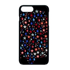 America Usa Map Stars Vector  Apple Iphone 7 Plus Seamless Case (black) by Simbadda
