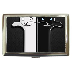 Texture Cats Black White Cigarette Money Cases by Simbadda