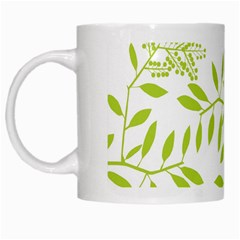 Leaves Pattern Seamless White Mugs by Simbadda